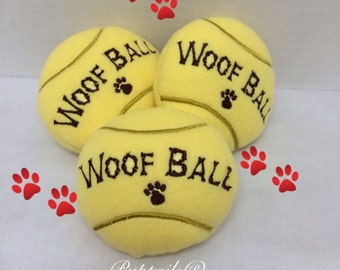 Woof Ball Toy made of soft fleece