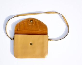 Romy beige/camel vintage leather handbag 90s