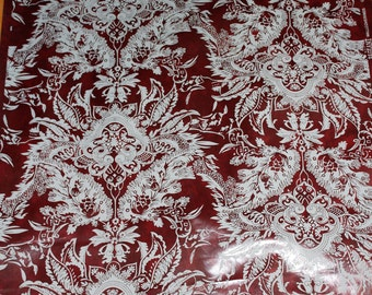 """Vintage Wallpaper Victorian Damask By The Yard 27"""" Wide"""