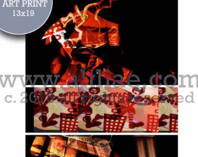 LASCAUX i - Edition Art Print of an original digital collage