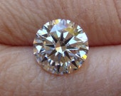Highest Quality 8.5mm Light Yellow L/M 8-Hearts and Arrows Cubic Zirconia - RARE