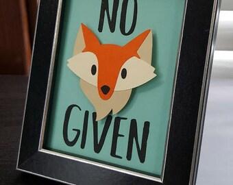 No Fox Given! Mini Frame