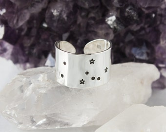 Taurus Zodiac Constellation Ring. Taurus gift. Zodiac jewelry. Zodiac ring. Sterling Silver or Aluminum Constellation ring RTS