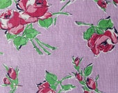 Feedsack, Quilting Cotton, 1940's Fabric, Vintage Flour Sack, NOT Reproduction, Roses, UK Seller,