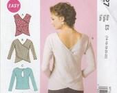 Awesome Overlap Shirt Pattern McCalls 7127 Sizes 14 - 22 Uncut