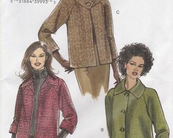 Modern Jacket Pattern Vogue 8123 Sizes 16 - 22 Uncut