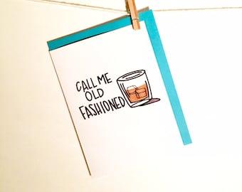 birthday card. old fashioned. drinking. booze. beer. whisky. whiskey. birthday card for him. brother birthday. husband birthday.