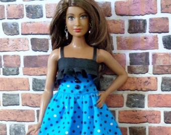 2 piece Party Dress for Curvy Barbie or similar fashion doll