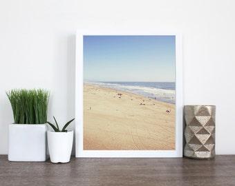 OCEAN BEACH | Beach photography | San Francisco landscape art print | blue and beige | sand and water | tilt shift art print | pastel decor