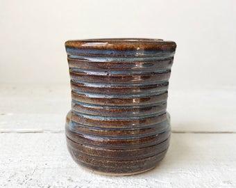 Pottery Sponge Holder - Kitchen Sponge Holder - Ceramic Sponge Holder - Brown Sponge Caddy - Clay Sponge Dish - Wheel Thrown Pottery Holder