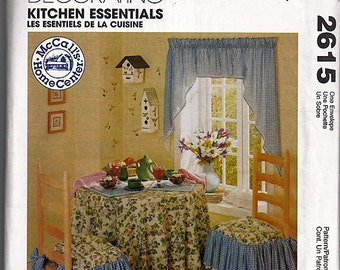 Kitchen Essentials / Original McCall's Home Decorating Uncut Sewing Pattern 2615