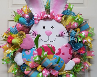 Easter Wreath, Easter Bunny Wreath,Easter,Rabbit Wreath for Easter
