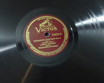 "Liszt ~ Leopold Stokowski /The Philadelphia Orchestra - Hungarian Rhapsody No.2 - 14422 - 12"" shellac 78rpm (Victor Red Seal,1936)"