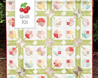 Strawberry Fields Flower Patch Quilt Kit - One Quilt Kit - Flower Patch Quilt Pattern - Strawberry Fields Revisited Fabric