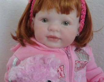 "Reborn Big Toddler Girl Doll Chloe from 27"" Kitten Sculpt"
