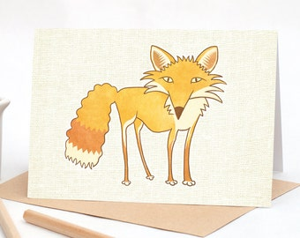 Foxy - Greeting card