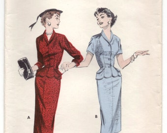 """1950's Butterick Suit Dress with Pockets - Bust 32"""" - No. 7241"""