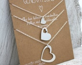 Generations necklace set - Grandma - necklace gift - personalized - grandmother mother daughter - gift for her - mother gift - Valentine