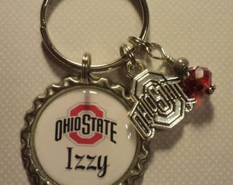 Personalized college key chain with charms (any college)