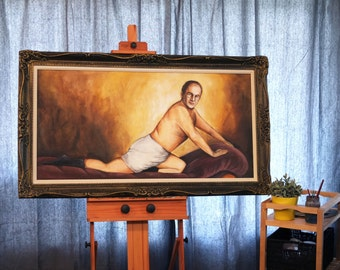 """Original Painting of George Constanza """"Timeless Art of Seduction"""" from Seinfeld"""