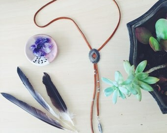 Concho Charm Bolo Necklace