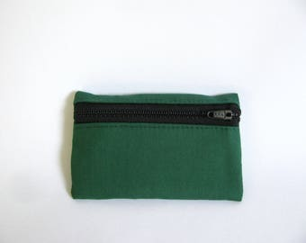 Small pouch- Green cotton