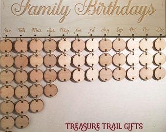 Family Celebration Board Family Birthday Board Family Calendar Birthday Board Birthday Reminder Birthday Boards Family Birthday Calendar Kit