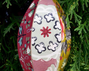 hand-crafted vintage wallpaper ornament