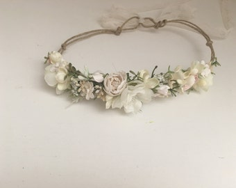 Flower crown- flower halo- bridal flower crown- Well dressed wolf- baby flower crown- Flower Girl crown- wedding headpiece
