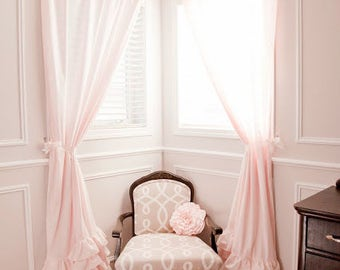 Ruffled Bottom Curtain Panels