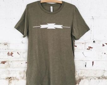 SALE- TK Adventure Tee, Unisex T-Shirt, Olive Green