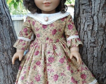 """18"""" Doll Clothes Civil War Era Style Gown For Fall Fits American Girl Marie Grace, Cecile, Addy"""
