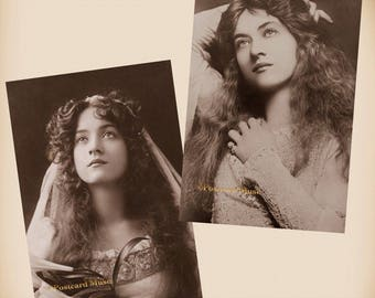 Actress Maude Fealy - 2 New 4x6 Vintage Postcard Image Photo Print - MF02-01