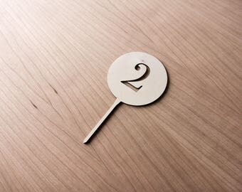 Paint Your Own Laser Cut Cake Topper - Choose Your Number