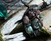 RESERVED for Jannelle...Part Payment...Owl Spirit Animal with Labradorite Necklace. Shamanic Animal Totem Necklace...
