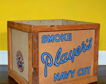 Mid-Century Player's Navy Cut Cigarette Shipping Crate