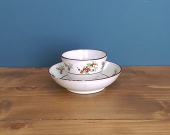 Pearlware Toy Tea Bowl and Saucer c1795