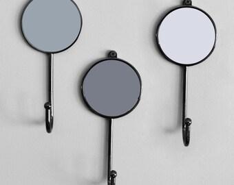 Grey Colourful Bedroom Wall Coat Hooks