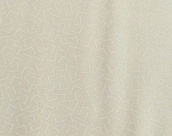 White cotton fabric with white print, Whisper prints ivory, off white fabric