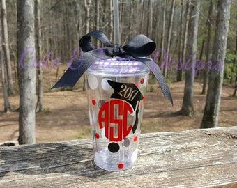Personalized 16oz Graduation Acrylic Tumbler BPA FREE