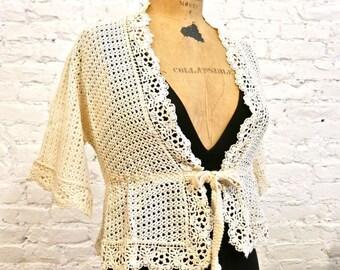 70s Crochet Jacket