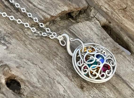 Mother Daughter Necklace. Mother Daughter Jewelry // Inspirational Jewelry // Filigree Locket Sterling Silver