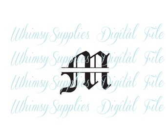 Old English Split Letters A through Z all 26 letters Digital Download Scrapbooking Tshirts Monograms Decals