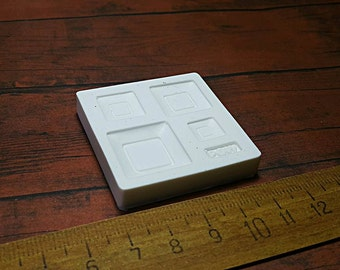 Mold/mould Dollhouse Miniature 1/12 Square Plate Japanese Style
