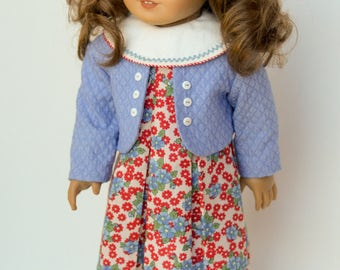 Vintage Spring Dress, Jacket and Hat 18 Inch Doll