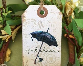Spring Umbrella Tag