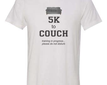 5K to couch funny t-shirt, couch potato t-shirt