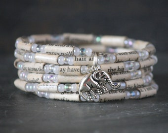 Water for Elephants, Water for Elephants gift, Water for Elephants jewelry, Water for Elephants bracelet, elephant charm bracelet, book gift