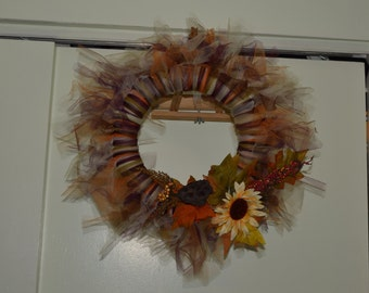 Fall/Autumn Tulle Wreath