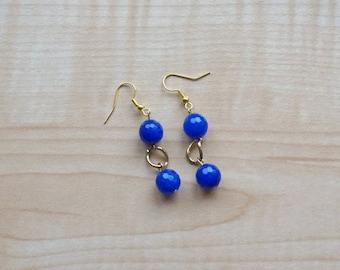 Blue Earrings, Women's Earrings, Blue Glass Earrings